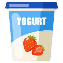 meyveli yoğurt hazır dolum kabı