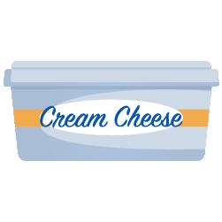 krem peynir dolum kabı